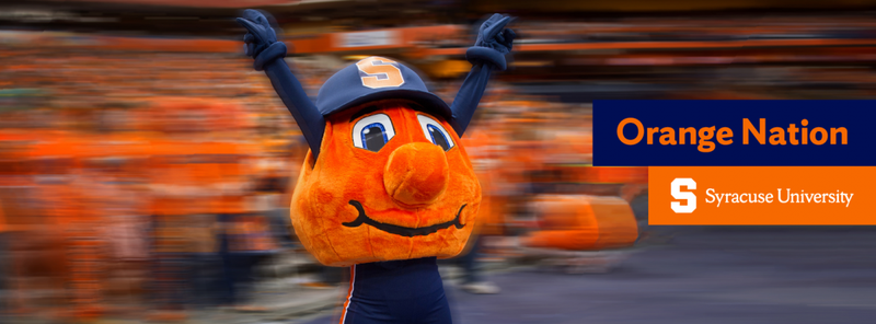 Cover photo of Otto in the packed Dome with Orange Nation written on it