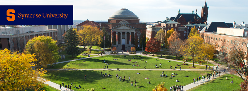 Cover photo of the quad on an early autumn day